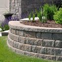 retaining wall installation for landscaping