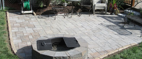 image of paver patio installation